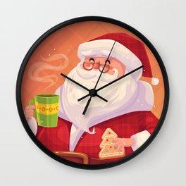 Santa on vacation Wall Clock