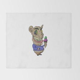 Ice-cream Goblin Throw Blanket