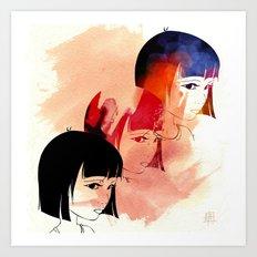 Red Child. Art Print