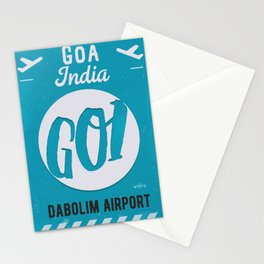 GOI GOA airport tag Stationery Cards