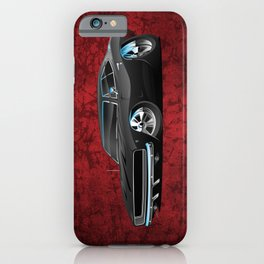 Classic 60's American Muscle Car Cartoon iPhone Case
