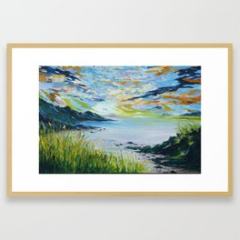 Sailing by Lovers cove Kinsale Framed Art Print