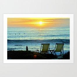 Modern Cambria CA Sunset Art Print