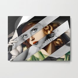 Tamara de Lempicka Girl in a Green Dress & Bette Davis Metal Print