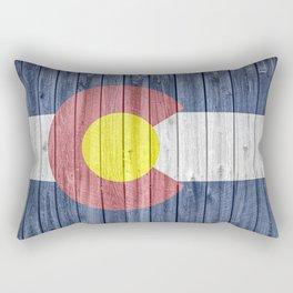Colorado State Flag Barn Wall Gifts Rectangular Pillow