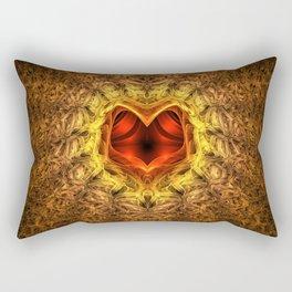 Textured Heart Rectangular Pillow