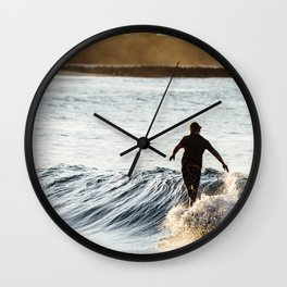 Noosa Longboarder Wall Clock
