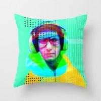 beastie boys Throw Pillows featuring Gioconda Music Project · Beastie Boys · Mike D. by Marko Köppe