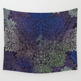 lace weave in deep blues Wall Tapestry