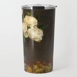 Henri Fantin-Latour - Still Life With Roses And Fruit Travel Mug