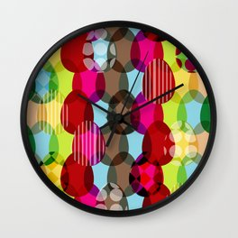Eggs pattern Wall Clock