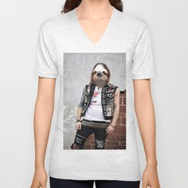 Punk Sloth II Unisex V-Neck
