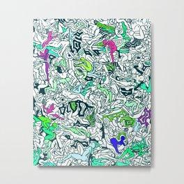 Kamasutra LOVE - Forest Green Metal Print