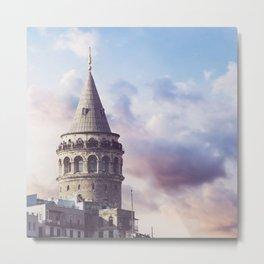 Galata Tower, Istanbul, Turkey Metal Print