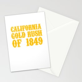 Old West Collection California Gold Rush Of 1849 Stationery Cards