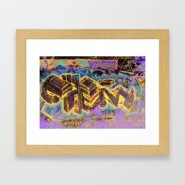 organic chemistry. Framed Art Print