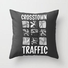 Crosstown Traffic - BW Throw Pillow
