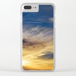 Sunset Trail Clear iPhone Case