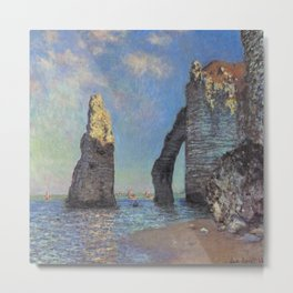 Claude Monet's The Cliffs at Etretat Metal Print