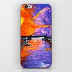 Sunset Harbor iPhone & iPod Skin