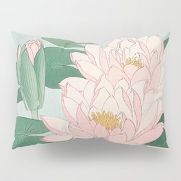 Water Lilies - Japanese vintage woodblock print Pillow Sham