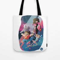steven universe Tote Bags featuring Steven Universe by David Pavon
