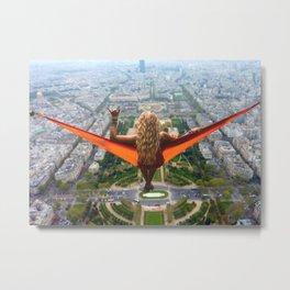 French Girl, Sexy Wall Art Metal Print