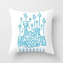 Horrover - Apocalypse on Mars horror sci-fi Throw Pillow