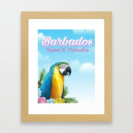Barbados Travel poster Framed Art Print