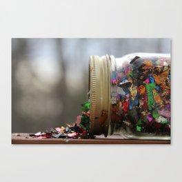 Sparkle Spill  Canvas Print