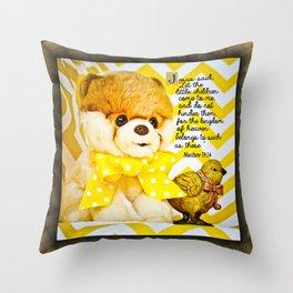 Cute Stuffed Dog Throw Pillow