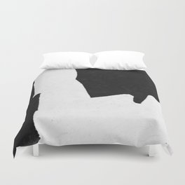 Black White Minimal Abstract Painting Nr.101 Duvet Cover