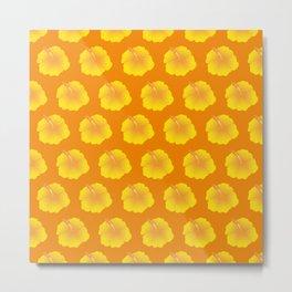 Hibiscus pattern_YC Metal Print