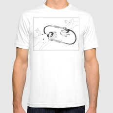 Hanged Mens Fitted Tee SMALL White