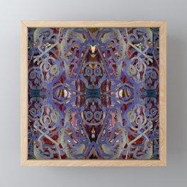 Skulls Purple Rouge Framed Mini Art Print
