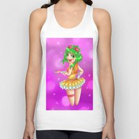 vocaloid Tank Tops featuring Vocaloid GUMI by reeree22