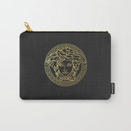 Versace/Medusa Head Logo Gold Carry-All Pouch