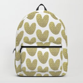 Gold Hearts Backpack