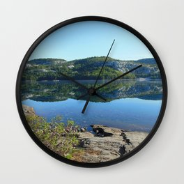 Mountains of Glass Wall Clock