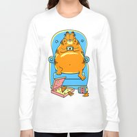 garfield Long Sleeve T-shirts featuring garfield by Vincent Trinidad