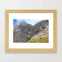 At Table Mountain, Cape Town South Africa Framed Art Print