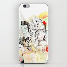 Crazy Family iPhone & iPod Skin