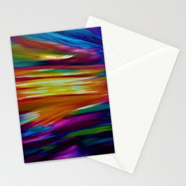 CELESTIAL SKY - Large Abstract Sky Oil Painting Stationery Cards