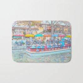 Ride Down The River - San Antonio, Texas Bath Mat