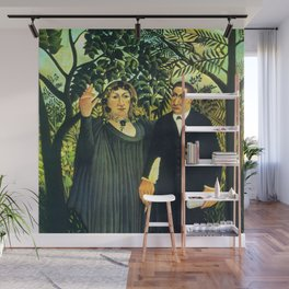 "Henri Rousseau ""The Muse Inspiring the Poet"" Wall Mural"