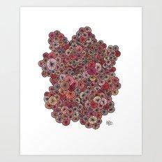 Pink Pinwheels Art Print