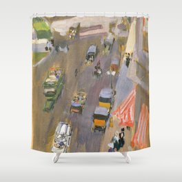 Fifth Avenue New York By Joaquin Sorolla Shower Curtain