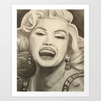 marylin monroe Art Prints featuring Marylin by infiniteartistics
