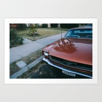 san diego Art Prints featuring San Diego by Emily Marshall