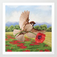 Out in the Fields With God Art Print